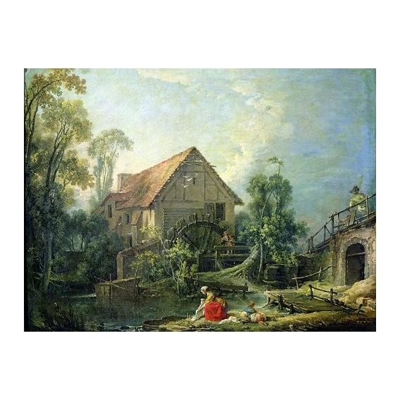 """The Mill, 1751 (oil on canvas)"""