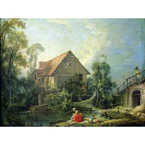 Comprar  - Cuadro The Mill, 1751 (oil on canvas) online - Boucher, François