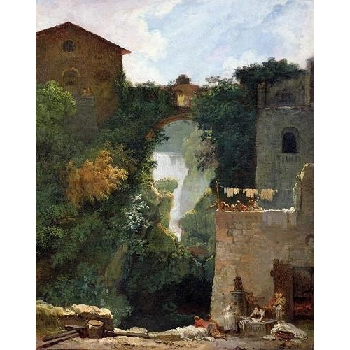 "Cuadro ""The Falls of Tivoli (oil on canvas)."""