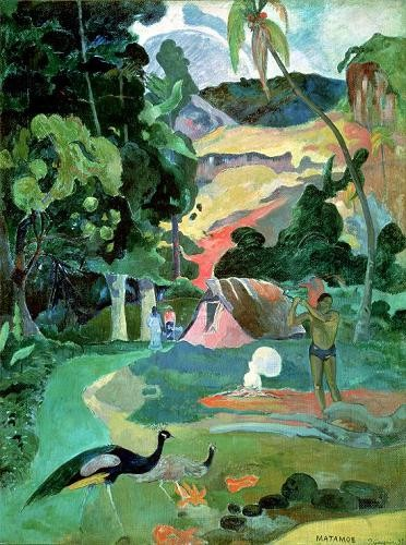 Comprar landscapes - Matamoe or, Landscape with Peacocks online - Gauguin, Paul
