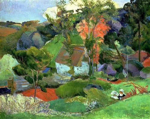 landscapes - Landscape at Pont Aven, 1888 - Gauguin, Paul