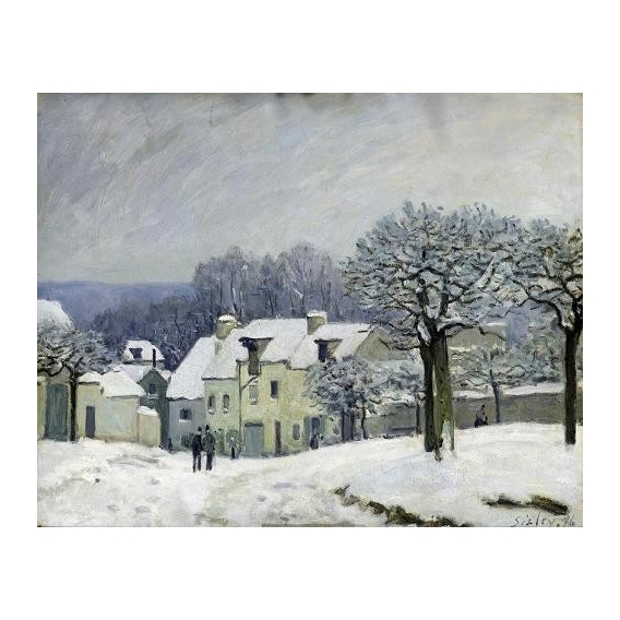 """The Place du Chenil at Marly-le-Roi, Snow, 1876"""