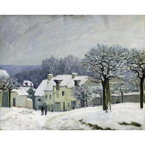 Cuadro The Place du Chenil at Marly-le-Roi, Snow, 1876