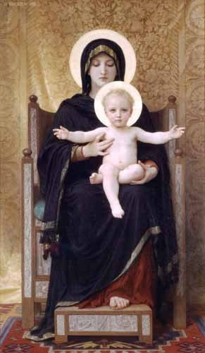 "cuadros religiosos - Cuadro ""La Virgen sentada"" - Bouguereau, William"