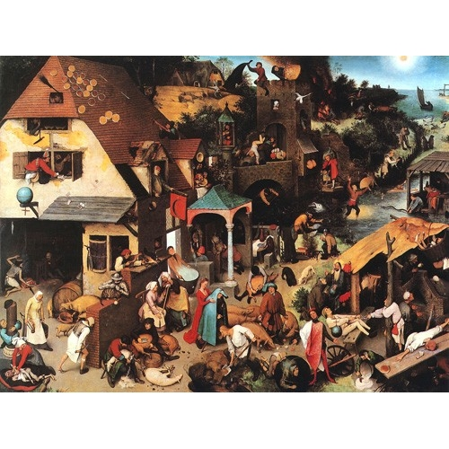 "Cuadro ""The Netherlandish Proverbs"""