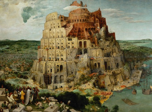 religious paintings - La Tour de Babel - Bruegel