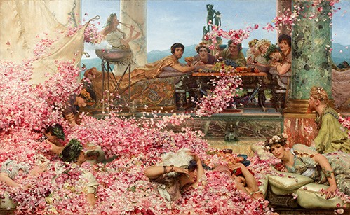 Comprar portrait and figure - The Roses of Heliogabalus online - Alma-Tadema, Lawrence