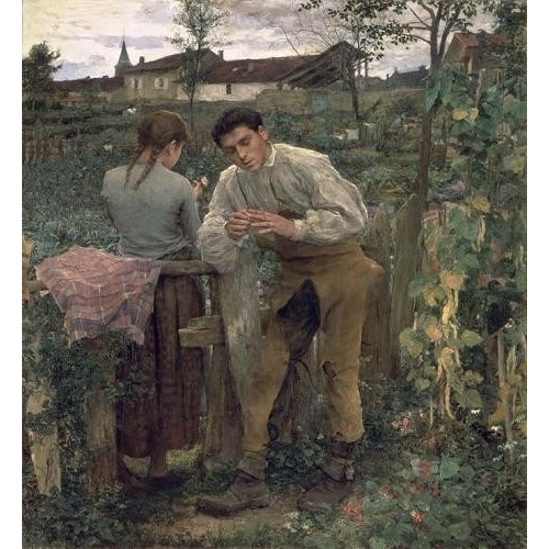 "Cuadro ""Rural Love, 1882 (oil on canvas)."""