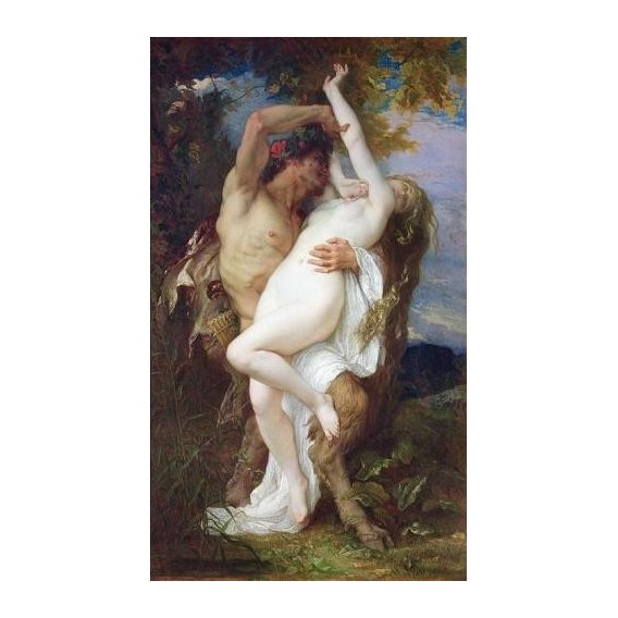 """Nymph Abducted by a Faun, 1860"""