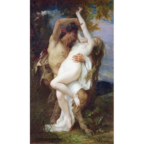 Comprar nude paintings - Nymph Abducted by a Faun, 1860 online - Cabanel, Alexander