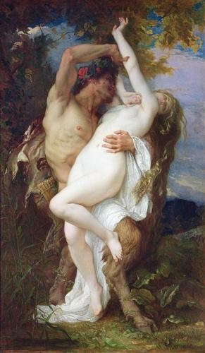portrait and figure - Nymph Abducted by a Faun, 1860 - Cabanel, Alexander