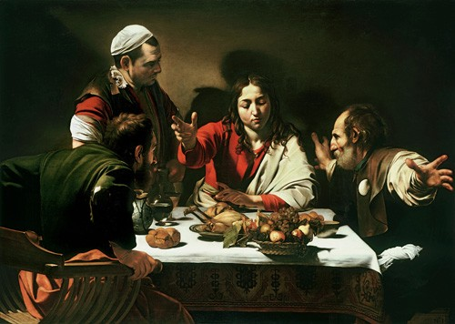 religious paintings - The Supper at Emmaus, 1601 - Caravaggio, Michelangelo M.