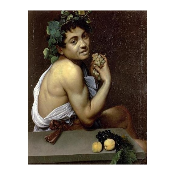 """The Sick Bacchus, 1591 (oil on canvas)."""