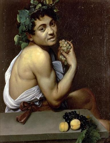 cuadros de retrato - Cuadro The Sick Bacchus, 1591 (oil on canvas). - Caravaggio, Michelangelo M.