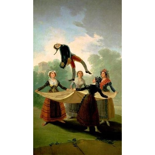 Cuadro El Pelele (The Puppet) 1791-2 (oil on canvas).