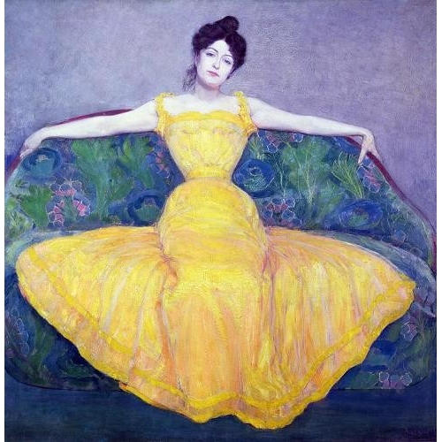 Cuadro Lady in a Yellow Dress, 1899