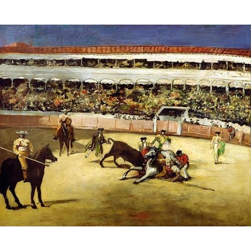 Comprar animals - Bull Fight, 1865 (Corrida de toros). online - Manet, Eduard