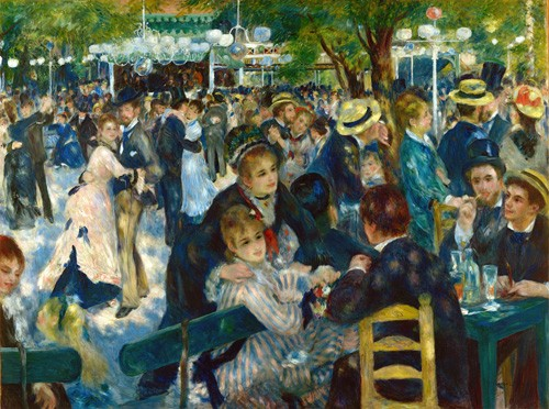 cuadros de retrato - Cuadro Ball at the Moulin de la Galette, 1876 - Renoir, Pierre Auguste