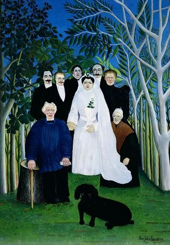cuadros de retrato - Cuadro The Wedding Party, 1904-05 - Rousseau, Henri