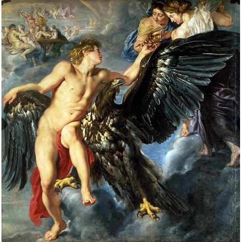 "Cuadro ""The Kidnapping of Ganymede"""
