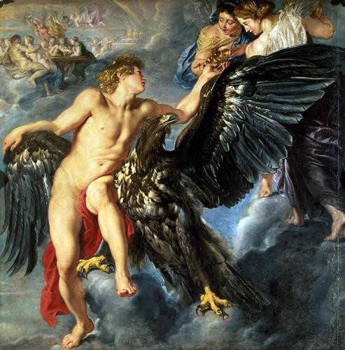"cuadros de retrato - Cuadro ""The Kidnapping of Ganymede"" - Rubens, Peter Paulus"