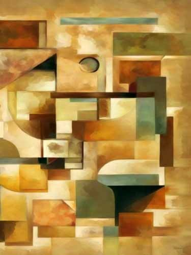 abstracts paintings - Moderno CM1279b - Medeiros, Celito