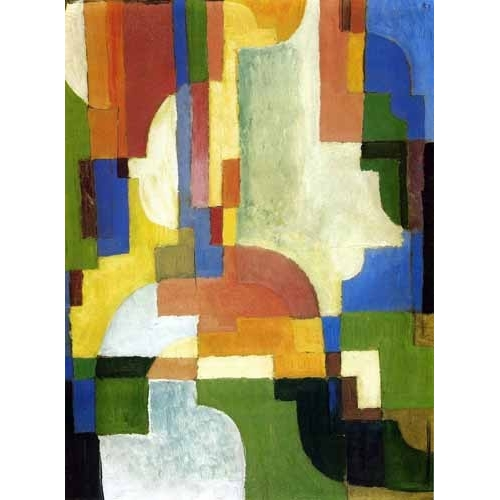Comprar cuadros abstractos - Cuadro Colored forms-1 online - Macke, August