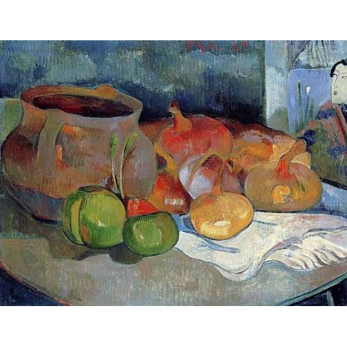 Comprar Still life paintings - Bodegón con cebollas y remolacha online - Gauguin, Paul