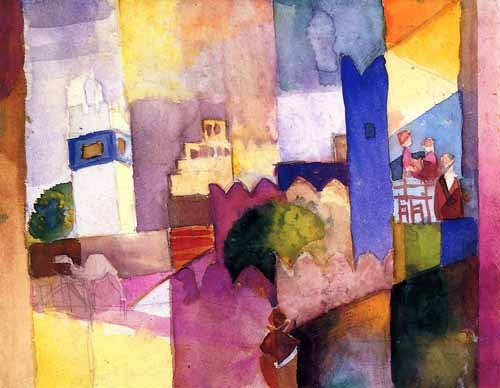 abstracts paintings - Paint-023 - Macke, August
