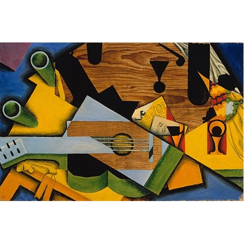 Comprar abstracts paintings - Still Life with a Guitar online - Gris, Juan