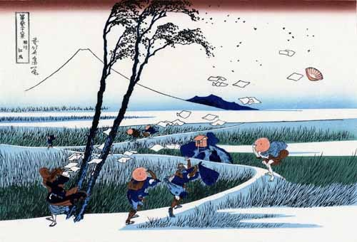 ethnic and oriental paintings - Ejiri in the Suruga province - Hokusai, Katsushika