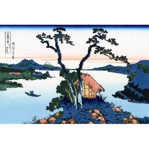Comprar ethnic and oriental paintings - Lake Suwa in the Shinano province online - Hokusai, Katsushika