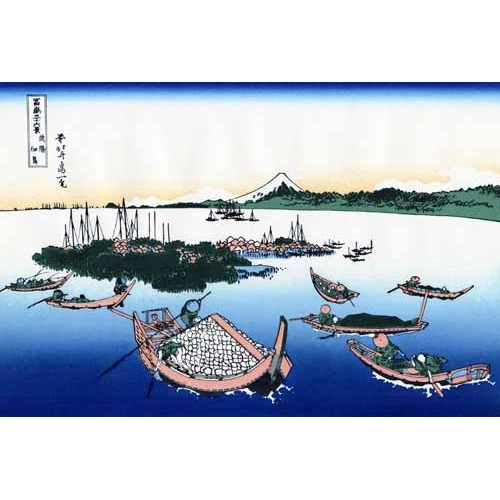 Comprar ethnic and oriental paintings - Tsukada Island in the Musashi province online - Hokusai, Katsushika