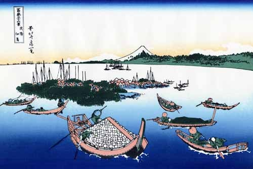 ethnic and oriental paintings - Tsukada Island in the Musashi province - Hokusai, Katsushika