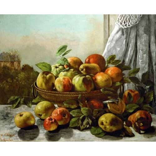 Comprar Still life paintings - Bodegon con frutas online - Courbet, Gustave