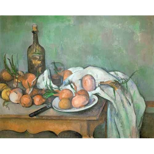 Comprar Still life paintings - Bodegon con cebollas online - Cezanne, Paul