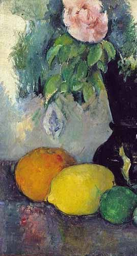 Still life paintings - Flores y frutas (1886) - Cezanne, Paul