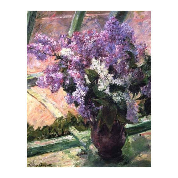 """Lilacs in a Window, 1880"""
