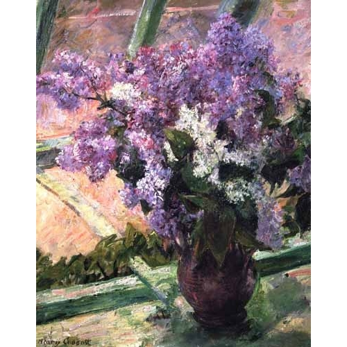 Comprar flowers - Lilacs in a Window, 1880 online - Cassatt, Marie