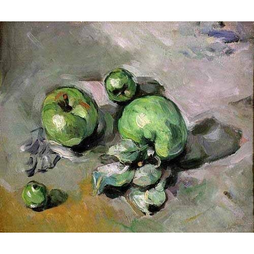 Comprar Still life paintings - Manzanas verdes, (1872-73) online - Cezanne, Paul