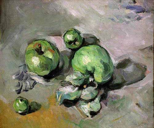 Still life paintings - Manzanas verdes, (1872-73) - Cezanne, Paul