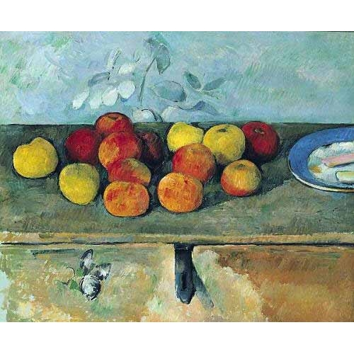 Comprar Still life paintings - Bodegón con manzanas y galletas(1880-82) online - Cezanne, Paul