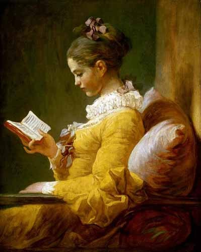 portrait and figure - Muchacha Leyendo - Fragonard, Jean Honoré