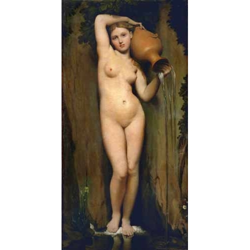Comprar nude paintings - La Fuente online - Ingres, Jean-Auguste-Dominique
