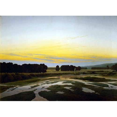 Comprar landscapes - The Big Preserve Near Dresden online - Friedrich, Caspar David