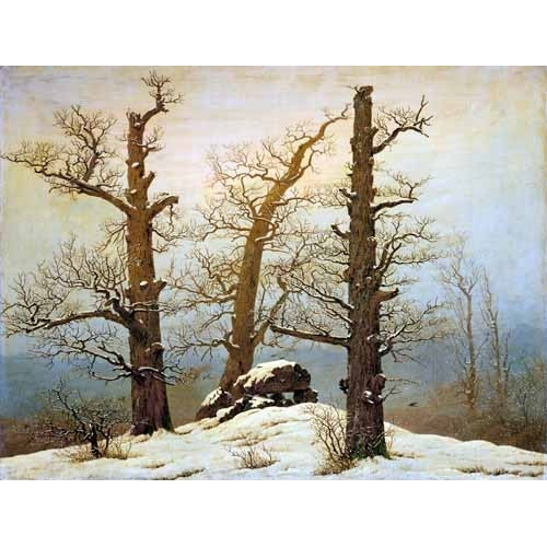 Comprar landscapes - Megalithic Caim In The Snow online - Friedrich, Caspar David