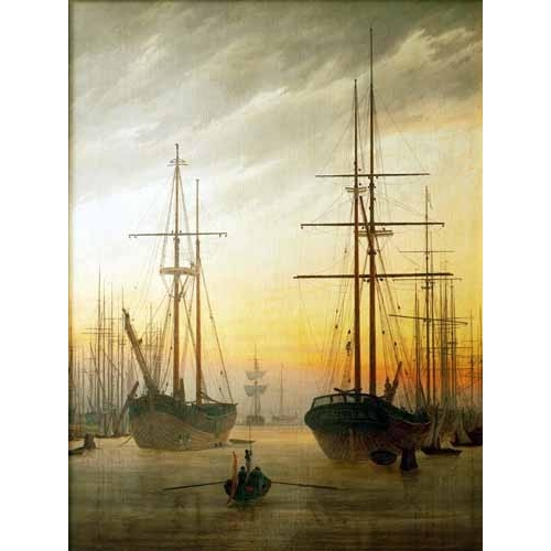 Comprar seascapes - Ships in The Harbour online - Friedrich, Caspar David