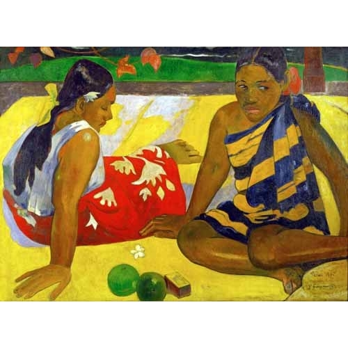"""Two women from Tahiti (Oil on canvas) (1892)"""