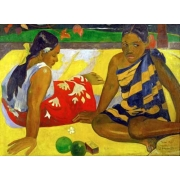 Two women from Tahiti (Oil on canvas) (1892)