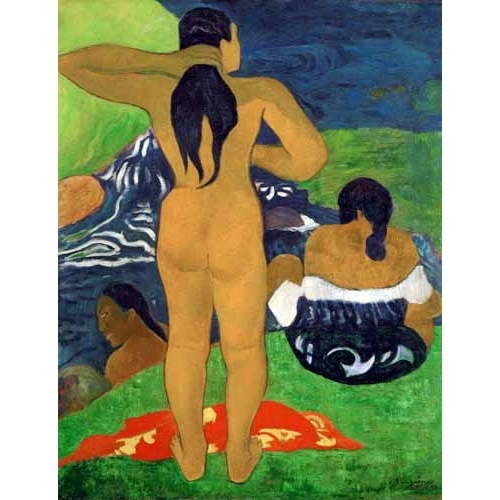 Tahitian women on the beach,1892